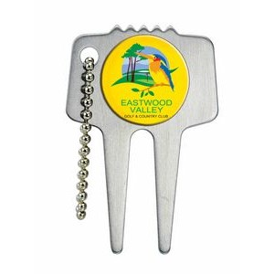 Domed Steel Divot Tool w/Chain (6 Day Production)